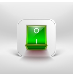 Green switch icon vector