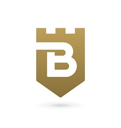 Letter B shield logo icon design template elements vector image vector image