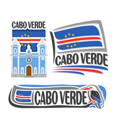 logo for cabo verde vector image vector image
