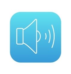 Speaker volume line icon vector image