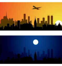 two variants of city ba vector image vector image