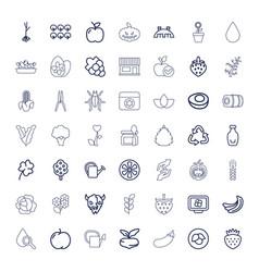 49 natural icons vector