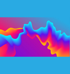 Abstract gradient wavy background futuristic vector