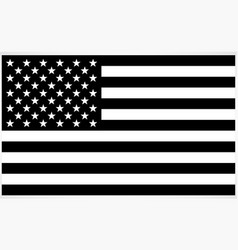 Accurate correct black and white usa flag vector
