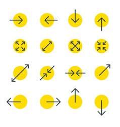Arrow line collection touch screen gestures icons vector