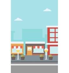 Background of city street vector