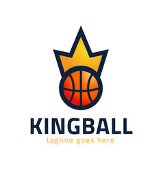 basketball kings team logo emblem designs vector image