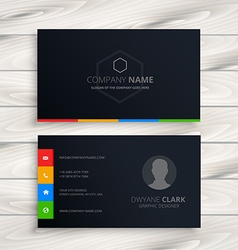 Black business card vector