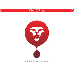 blood of lion logo vector image