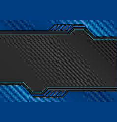 blue tech background with decorative lines vector image