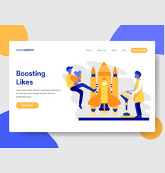 boosting likes concept vector image