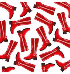 boots feminine pattern vector image