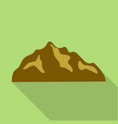 Brown hills mountain icon flat style vector