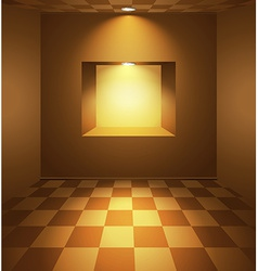 Brown room with niche vector image