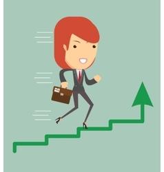 Business woman running vector