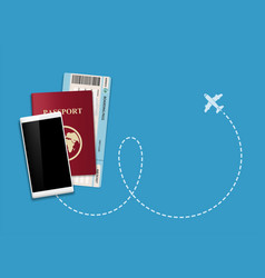 buying an airline ticket online vector image