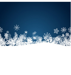 Christmas blue background with white snowflakes vector