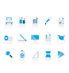 Commercial print icons vector