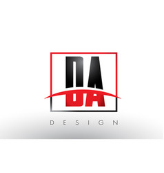 Da d a logo letters with red and black colors and vector