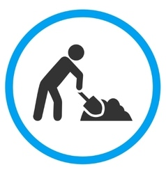 Digger Job Circled Icon vector