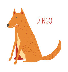 Dingo dog cartoon australian animal vector
