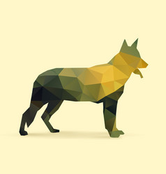 dog polygon silhouette vector image