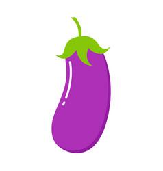 eggplant icon flat of eggplant vector image