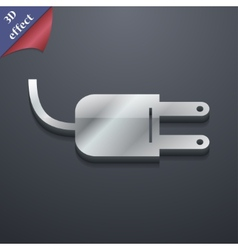 Electric plug icon symbol 3D style Trendy modern vector image