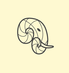 Elephant head logo design line art elephant vector