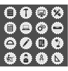 Engineering simply icons vector