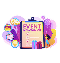 Event management concept vector