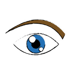 Eye human watch look vision icon vector