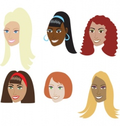 fake hair styles vector image vector image
