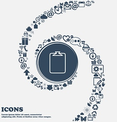 File annex icon Paper clip symbol Attach sign in vector