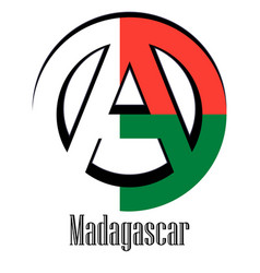 flag of madagascar of the world in the form of a vector image