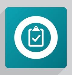 Flat vote icon vector