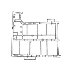 Floor plan drawing on vector