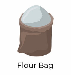 Flour sack vector