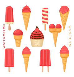 For natural tasty ice cream vector