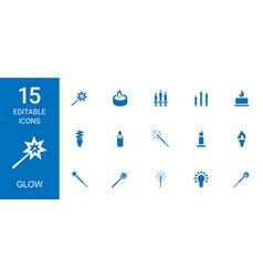 glow icons vector image