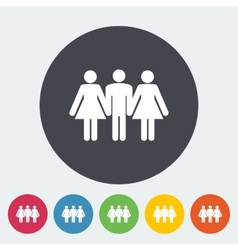 Group sex sign vector image