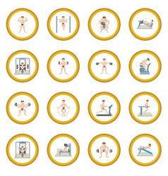 gym icon circle vector image