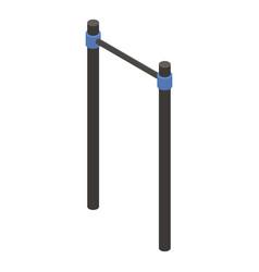 Gymnastic crossbar icon isometric style vector