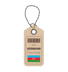hang tag made in azerbaijan with flag icon vector image