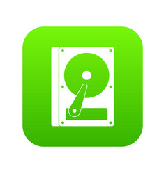 hdd icon digital green vector image