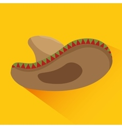 Icon hat mexican culture design vector