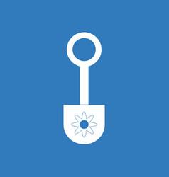 Icon shovel toy silhouette vector