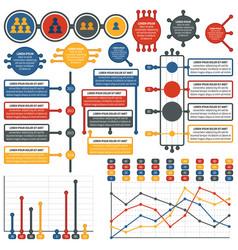 Infographics elements electronics set vector