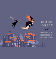 invitation banner for halloween party vector image