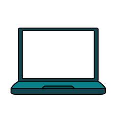laptop pc technology vector image
